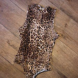 Tops - Leopard Print Bodysuit
